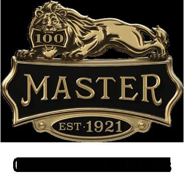 Logo lion de célébration des 100 ans de Master Lock, depuis1921